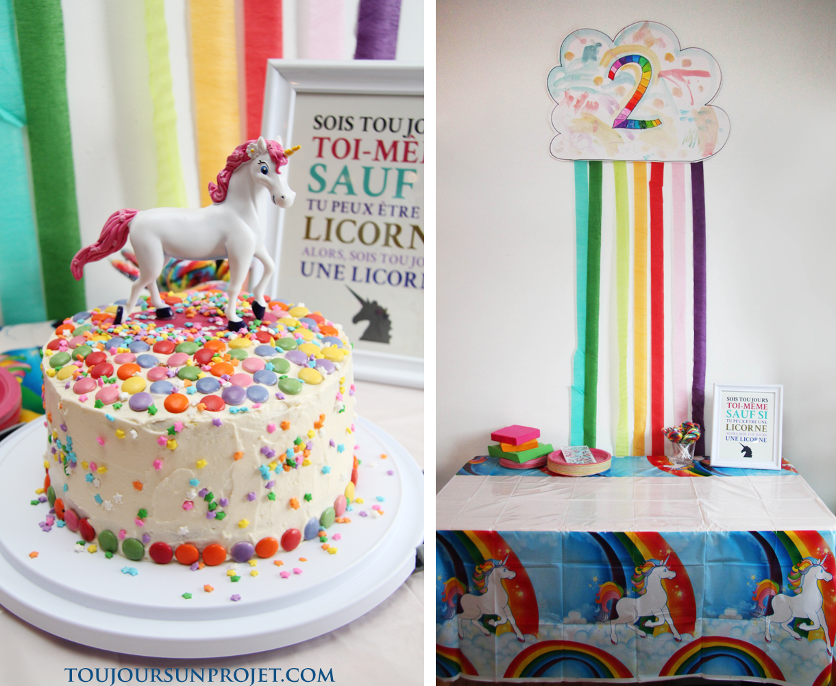 Arc en ciel l 39 atelier cr atif for Decoration gateau licorne
