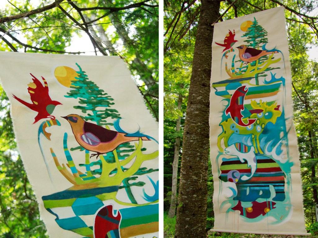 Oeuvre de Kim Durocher pour L'Expodition