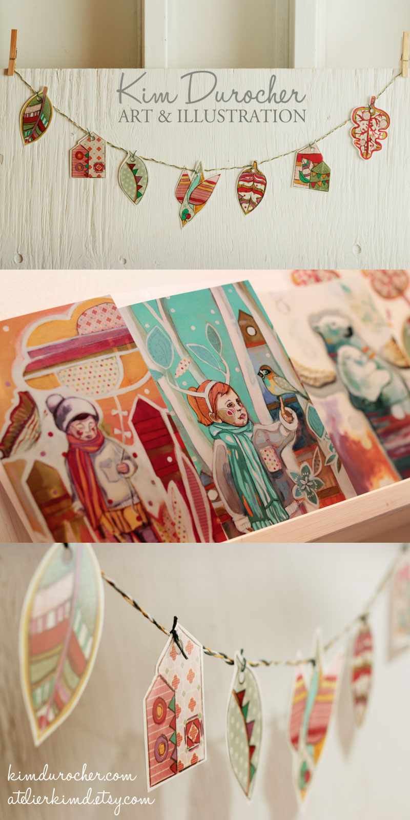 Illustrations de Kim Durocher. Collection hiver 2014-15
