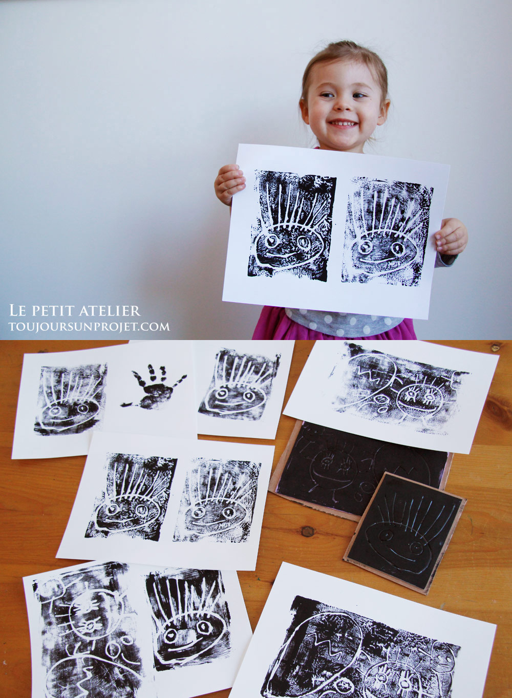 Le petit atelier estampe gravure et impression for Le petit atelier
