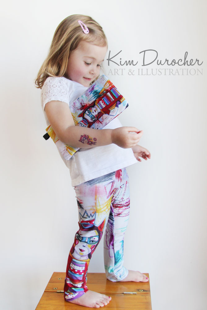 Kim Durocher baby leggings super hero