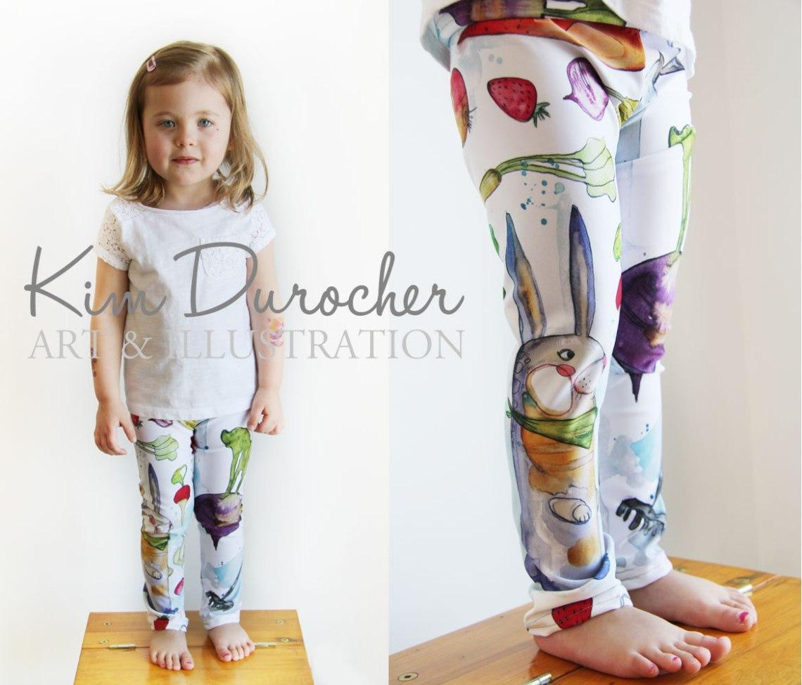 Kim Durocher baby leggings potager