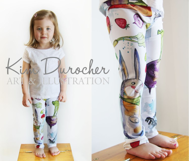 Kim Durocher baby leggings potager