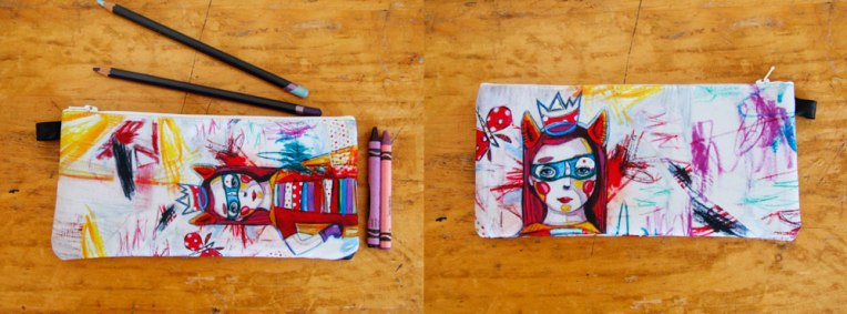 Kim Durocher Étuis crayons pencil case super hero