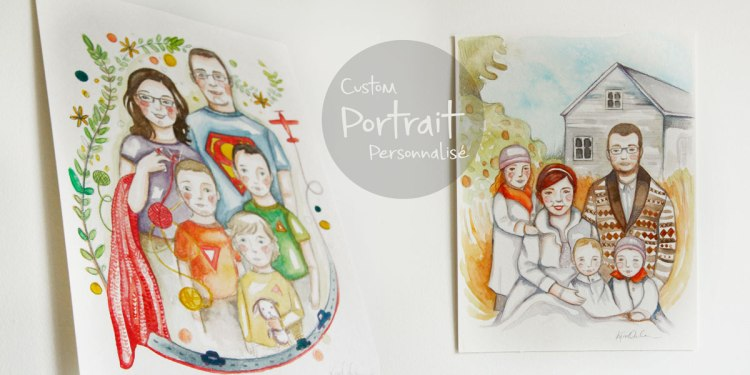 Custom portrait par Kim Durocher